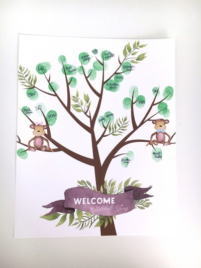 Jungle Baby Shower Fingerprint Guestbook