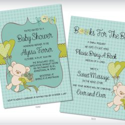 Teddy Bear Baby Shower Invitation Green