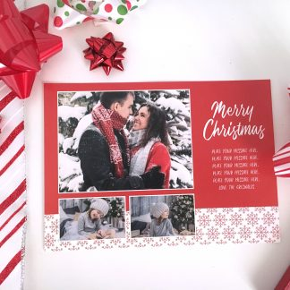 Snowy Sweater Christmas Card - Horizontal