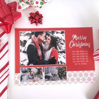Snowy Sweater Christmas Card - Horizontal