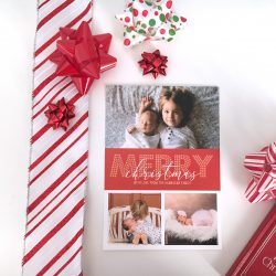 Bold Greetings Red Christmas Card - 3 Photo