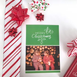 Festive Greenery Christmas Card