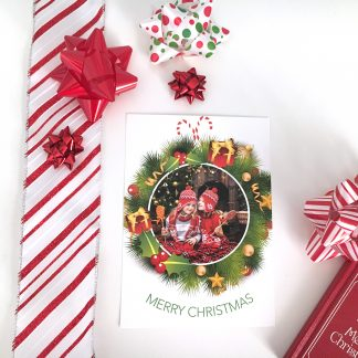 Wild & Fun Wreath Christmas Card