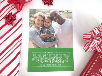 Bold Greetings Green Christmas Card