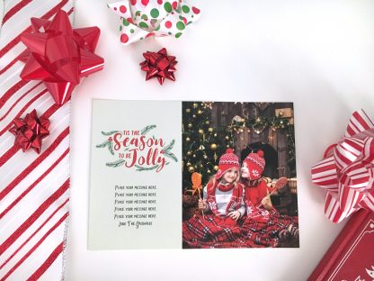 Holly & Jolly Christmas Card Horizontal