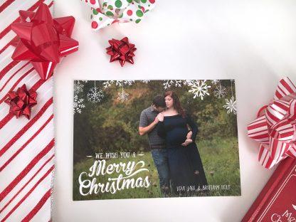 Snowflake Overlay Christmas Card