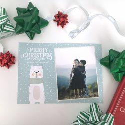 Polar Bear Christmas Card - Horizontal