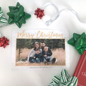 Sprinkled With Snow Christmas Card