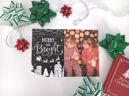 Photo Christmas Card - Merry & Bright