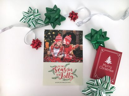 Holly & Jolly Christmas Card - Vertical