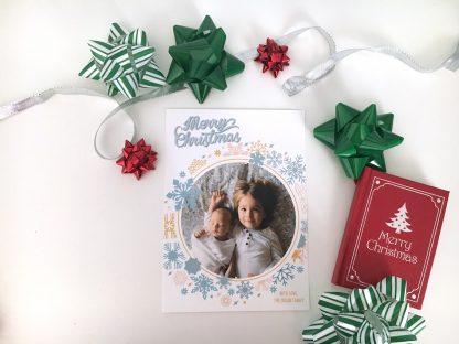 Spectacular Snowfall Christmas Card - Vertical