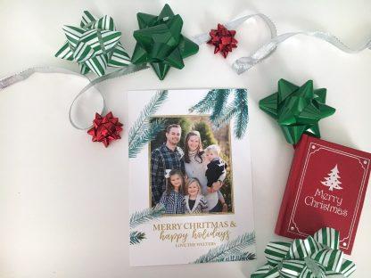 Textured Pine Tree Christmas Card