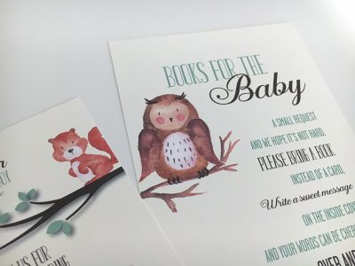 Woodland Forest Baby Animals Baby Shower Invitation