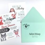 Woodland Forest Baby Animals Baby Shower Invitation Envelope