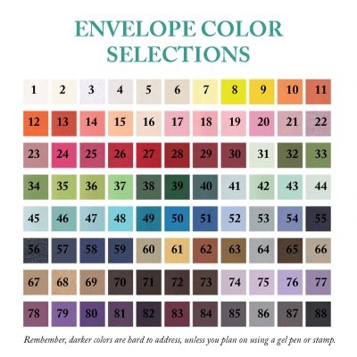 All Envelope Color Selections