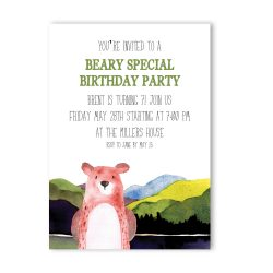 Beary Special Birthday Party Invitation