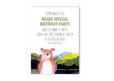 Beary Special Birthday Party Invitation