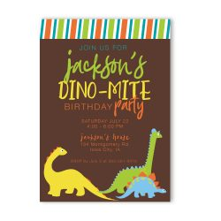 Dinosaur Birthday Party Invitation-Boy
