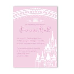 Fairy Tale Castle Birthday Party Invitation Girl