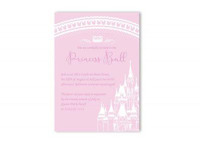 Fairy Tale Castle Birthday Party Invitation Girl