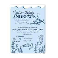 Under The Sea Aquarium Birthday Party Invitation