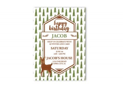 Wilderness Birthday Party Invitation
