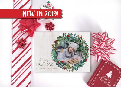Wild Winter Wreath Holiday Card - Horizontal