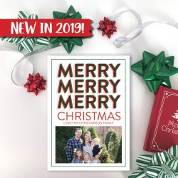 Merry Merry Merry Christmas Card