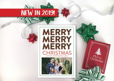 Merry Merry Merry Christmas Card