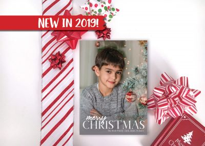 Photo Overlay Holiday Card - Vertical