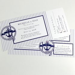 Nautical Boarding Pass Party Invitation