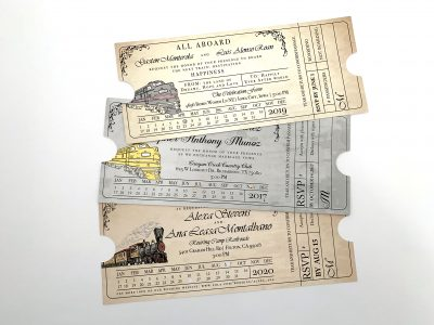 Train Ticket Invitation Options - Styled Suite