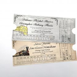 Train Ticket Party Invitation
