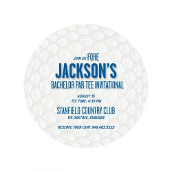 Golf Bachelor Party Invitations