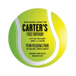 Tennis Birthday Party Invitation