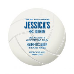 Volleyball Birthday Party Invitations