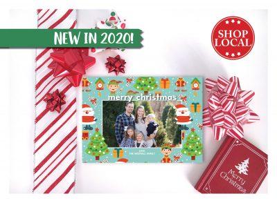 Santa & His Elves Christmas Card