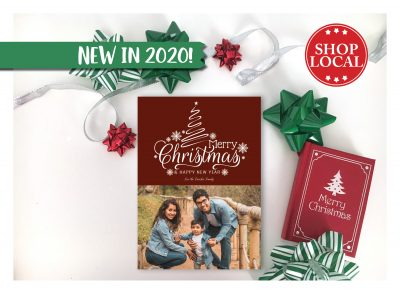 Merry Maroon Christmas Card