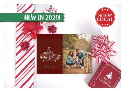 Merry Maroon Christmas Card