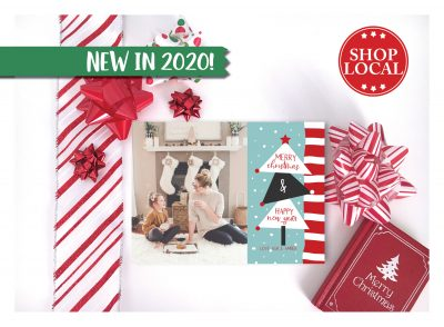 Abstract Christmas Tree Holiday Card
