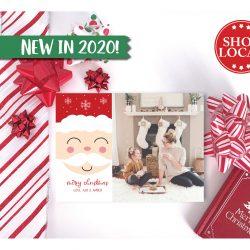 Santa Smiles Sweetly Holiday Card