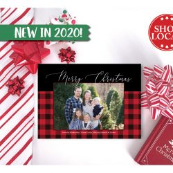 Buffalo Plaid Holiday Card - Red & Black