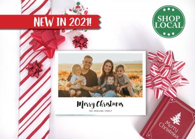 Simple White Photo Holiday Card